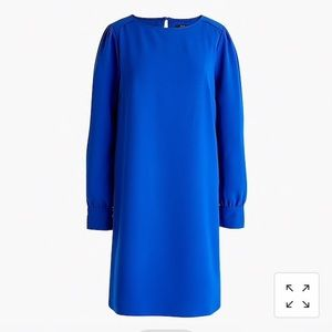 J Crew long-sleeve shift dress in everyday crepe